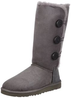 ugg australia women's bailey button triplet sheepskin boot dry leaf