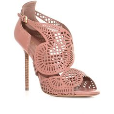 Sergio Rossi Macro laser cut-out sandals ($415) ❤ liked on Polyvore