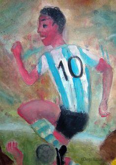 magico. Pintura sobre el futbol argentino a la venta del artista plastico Diego Manuel Rodriguez