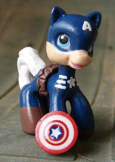 My Little Pony Avengers Captain America Custom by LittleCustomShop