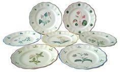 Italian Hand-Painted Plates, Set of 7