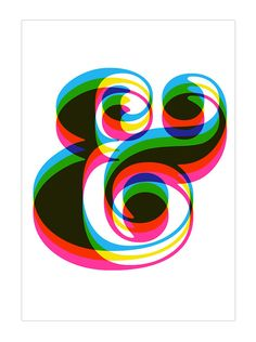 Typography poster print  Ampersand