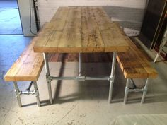 Huge kitchen/dining table with matching benches. by WingsFurniture, £750.00