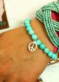 turquoise peace beads