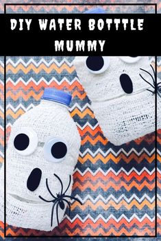 DIY Mummy Water Bottles A Quick Halloween Craft - How to make your own mummy water bottles for Halloween! Halloween DIY Halloween crafts with kids DIY Halloween Beverages for Halloween Party Care Skin Condition and Treatment Oil Makeup Quick Halloween Crafts, Halloween Activities, Holiday Crafts, Halloween Decorations, Activities For Kids, Monster Activities, Party Crafts, Thanksgiving Crafts, Holiday Ideas