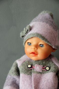 Puppenmantel DIY - doll's coat DIY