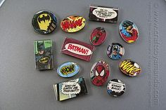 Superhero Comic Book Magnets by Amanda Formaro of Crafts by Amanda   *You could use Mickey Mouse comics instead!!