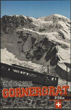 Zermatt-Gornergrat by Boston Public Library, via Flickr
