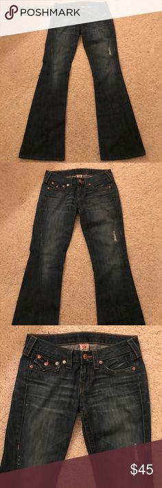 True Religion distressed, flare jeans True Religion distressed, flare jeans. True Religion Jeans Flare & Wide Leg
