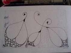 Zentangle Border Pattern | Simple Zentangle Ideas Of my favourite zentangle
