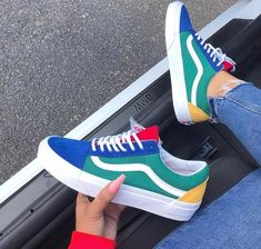 Primary colour Vans tennis shoes are a stylish c953885ba8bbc