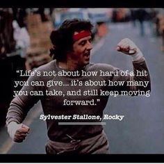 Most memorable quotes from Rocky Balboa, a movie based on film. Find important Rocky Balboa quotes from film series:Rocky Rocky II Rocky III Rocky IV Rocky V and Rocky Balboa Check InboundQuotes for Daily Inspiration Quotes, Great Quotes, Quotes To Live By, Life Quotes, Motivation Inspiration, Fitness Inspiration, Man Quotes, Career Quotes, Status Quotes