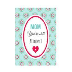Carte postale  Mom You're Still Number 1 par DodoetCath sur Etsy, €1.50