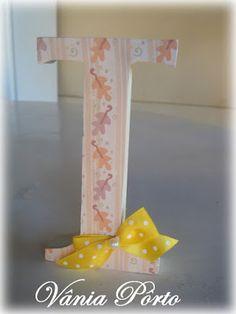 Letras em MDF, composição para o quartinho da bebê em tons de terra para amarelo