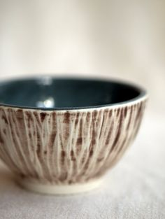 Small Rustic Porcelain Bowl in Ivory and Soft by peifferStudios