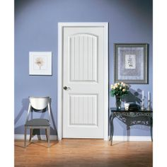 Enjoy The Beauty Of Wood In This Masonite Saddlebrook Smooth One Panel  Plank Hollow Core Primed Composite Interior Door Slab.
