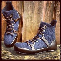 Обувь ручной работы. Ярмарка Мастеров - ручная работа. Купить Валяные ботинки Trekking Time. Handmade. Тёмно-синий
