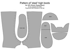 Boots pattern for dolls #doll #crafts #pattern #diy