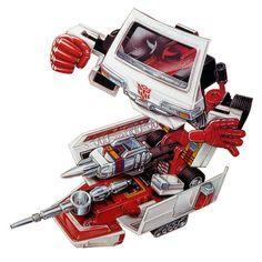 Botch's Transformers Box Art Archive - 1984 Autobots - Ratchet