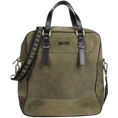 Richmond Handbag ($345) ❤ liked on Polyvore featuring bags, handbags, purses, military green, brown leather handbags, leather purses, brown handbags, leather man bags and genuine leather handbags