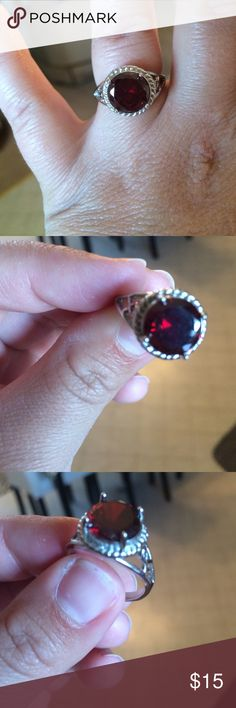 Ruby fashion ring Very good condition, a few scuff marks on the back of ring, barely noticeable. Fits ring size 7 to 8. Jewelry Rings
