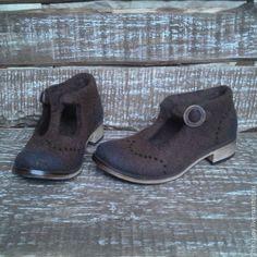 Купить Валяные туфли APRIL - коричневый, туфельки, туфли ручной работы, туфли женские