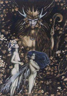 The Greenman  Cernunnos/Herne the Hunter... By Artist Brian Froud...