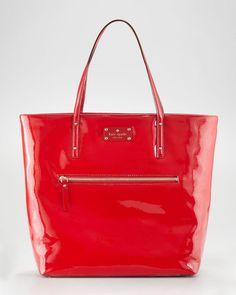 89db66cf42e8 Kate Spade Patent Leather Flicker Bon Shopper - Lyst New York Logo