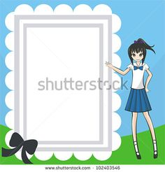 Naughty Student Diary and notepad. A plain notepad for everyone to use with a cute Thai school-girl on the right.