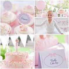 Little Ballerina Printable Party Collection