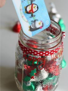 Jolly Jar #giftideas #holidaydiy