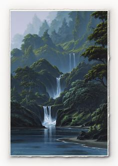 Enchanted Falls [SIGNATURE EDITION 13 x 24] - SurfArt