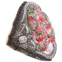 SEVAN BICAKCI  Tulip Carved White Amethyst Ring