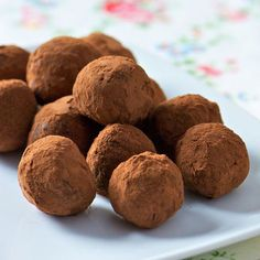 Devonshire Cream Chocolate Truffles - so silky and rich because of the Devonshire cream (aka clotted cream)