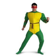Ninja Turtles Raphael Classic Muscle Adult Teenage Mutant  Costume  #teenage mutant ninja costumes #tnmt costumes