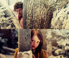 Lucy Pevensie and Mr. Tumnus