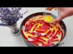 Haben Sie 3 Äpfel zu Hause? Ein schnelles Rezept für einen zarten Apfelkuchen. - YouTube Apple Pie Cake, Apple Cake Recipes, Fruit Recipes, Quick Recipes, Desert Recipes, Baking Recipes, No Cook Desserts, Delicious Desserts, Healthy Banana Muffins