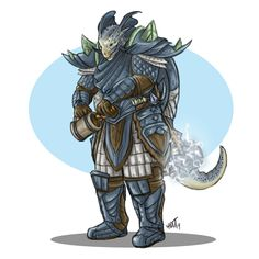 One of my ESO characters, the drunk Argonian tank Finds-and-Shouts. Characters, Art, Art Background, Kunst, Gcse Art, Art Education Resources, Artworks