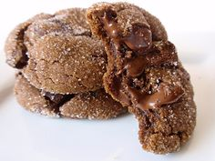 Cookies that combine my two favorite flavors - chocolate and ginger! Chewy Chocolate Gingerbread Cookies