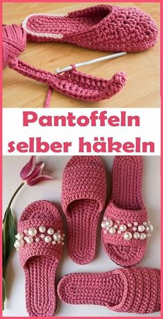 Crochet Slipper Pattern, Crochet Shoes, Crochet Slippers, Crochet Gifts, Crochet Baby, Free Crochet, Knit Crochet, Crochet Stitches Chart, Crochet Stitches For Beginners