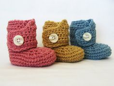 CROCHET PATTERN Baby Button Boots 4 sizes by YarnBlossomBoutique, $4.99