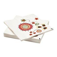 FINSTILT tovalló de paper, flors Llargària: 33 cm Ample: 33 cm Unitats: 30 unitats