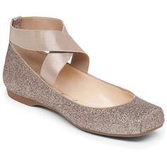 Jessica Simpson Mandalaye Metallic Ankle-Strap Square-Toe Ballet Flats ($69) ❤ liked on Polyvore featuring shoes, flats, ankle wrap ballet flats, ankle tie ballet flats, ankle strap flats, square toe shoes and ballerina pumps