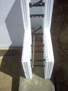 ICF (insulated concrete forms) for exterior walls