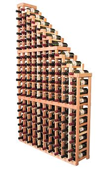 A beautiful cascading waterfall of wine bottle displays. Create a spectacle of 9 of your favorite vintages. Designed within our modular specifications and to Wine Racks America's superior product standards, you'll be satisfied. We guarantee it. Cool Wine Racks, Wine Cellar Racks, Rustic Wine Racks, Under Stairs Wine Cellar, Wine Racks America, Wine Bottle Display, Home Wine Cellars, Wine Storage, Superior Product
