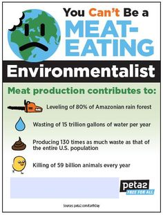 You can't be a meat-eating environmentalist.