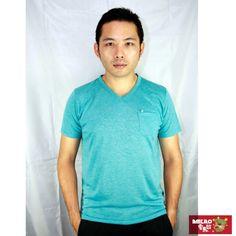 【AMERO】男裝短袖V領精梳棉T恤(綠)