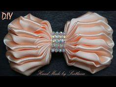 Бантик из ленты Канзаши DIY Bow of ribbon Kanzashi  Laço de Cetim - YouTube