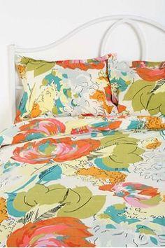 Watercolor Floral Sham - Set of 2