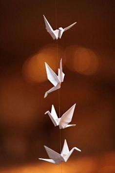 Origami cranes #Japan